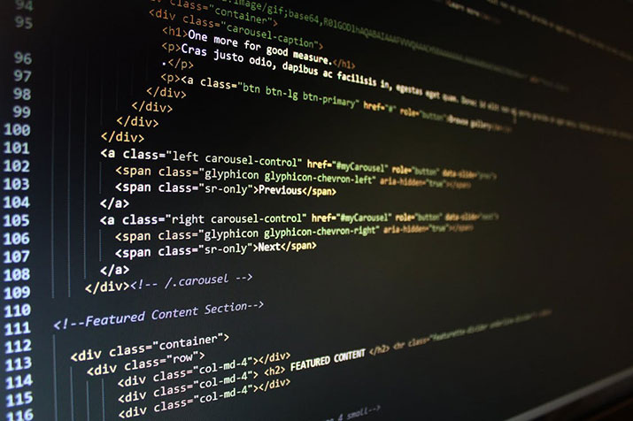 Html code screen web development